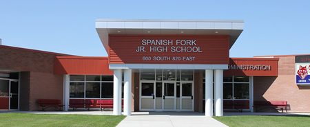 Spanish Fork Junior High School building entrance